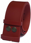 50mm Red Snap Fit Leather Belt